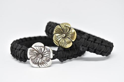 Flower with zirconia (Bronze)
