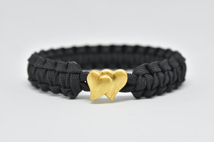 Double heart (Gold)