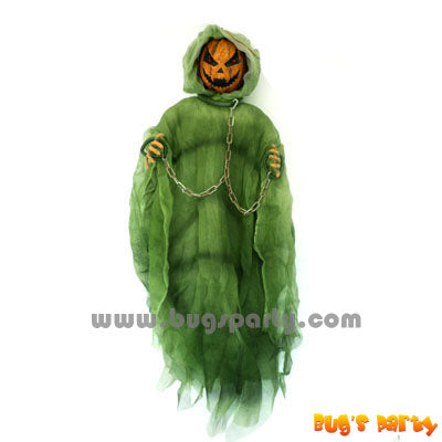 36in Lite Up Hanging Pumpkin face figure
