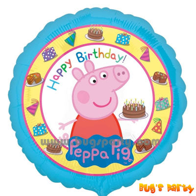 Peppa Pig happy birthday balloon