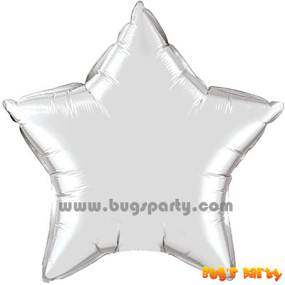Silver star shaped balloon