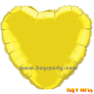 Gold heart shaped balloon