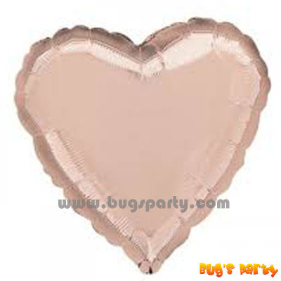 Rose Gold heart shaped balloon
