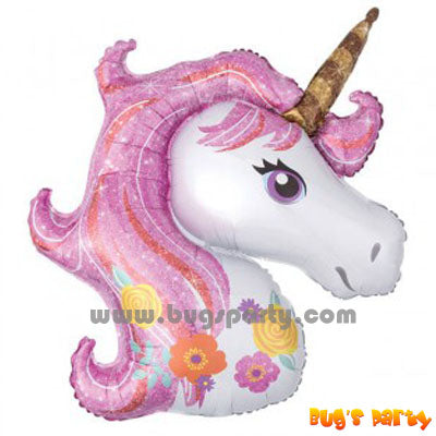 Pink Unicorn shaped balloon