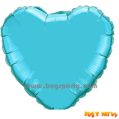 Tiffany blue color heart shaped balloon