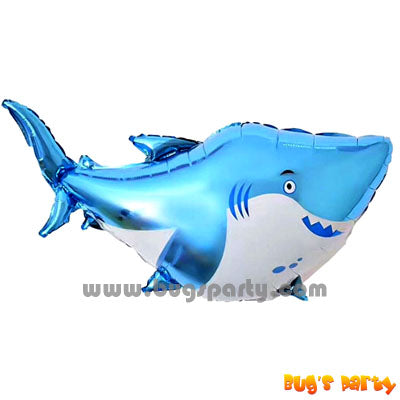 Shark shaped foil balloon
