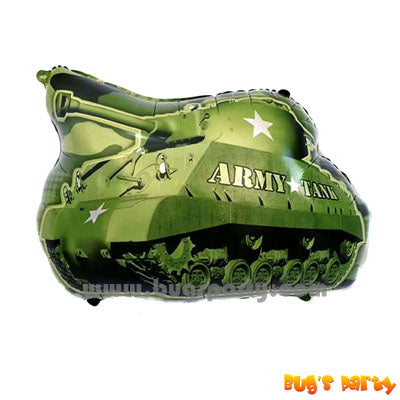 Tank shaped balloon, army camouflage party balloon