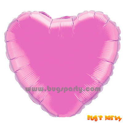 pearl pink heart shaped balloon