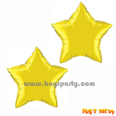 Gold Color Star Shaped Foil Balloon