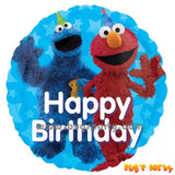 Elmo and Cookies Monster Happy Birthday Balloon, Sesame Street