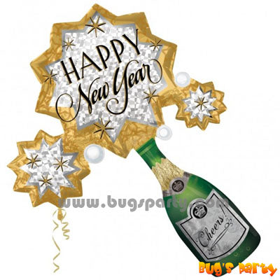 Champagne Pop Happy New Year balloon