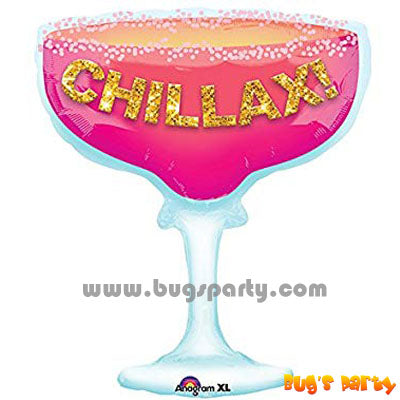 Chillax cocktail shaped balloon