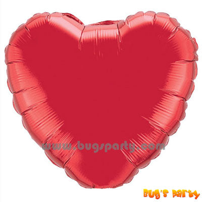 18 inches heart shaped red balloon