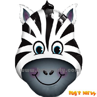 Zebra head foil balloon