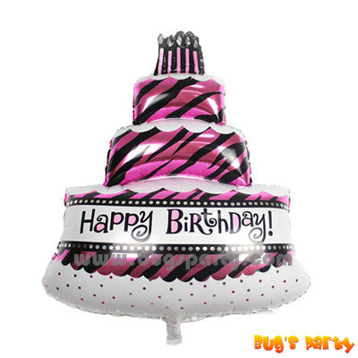 Fabulous Cake shaped happy birthday balloon