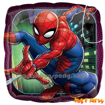 Amazing Spider-man square helium balloon