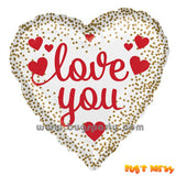 White color heart shaped i love you balloon