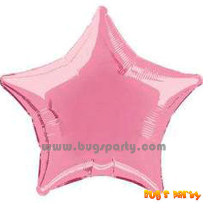 pink color star shaped foil balloon