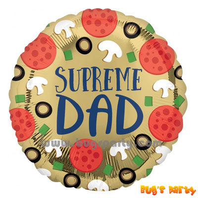 Supreme Dad message balloon