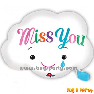 Miss You Cloud Shaped Balloon