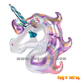 purple unicorn head shaped balloon