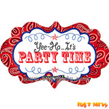 Party Time Banner Balloon