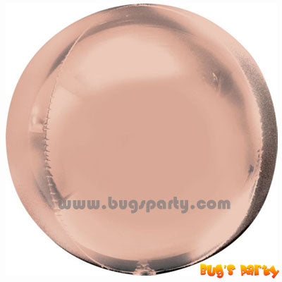 Rose gold orbz 4D balloon