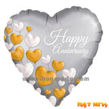 Happy Anniversary Hearts Balloon