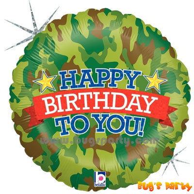 Army Camouflage Birthday Balloon