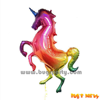 Colorful Unicorn full body shaped foil balloon