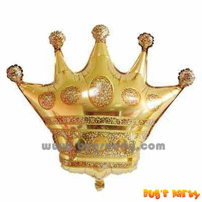 gold color crown shaped balloon