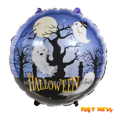 Halloween night ghost foil balloon 17 inches