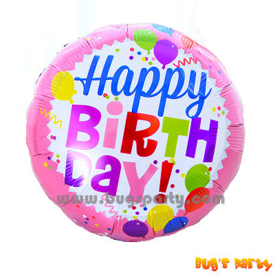 Colorful helium birthday balloon