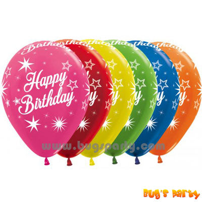 Happy Birthday Latex balloon, helium quality