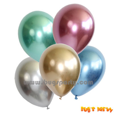 assorted 12 pieces chrome balloons