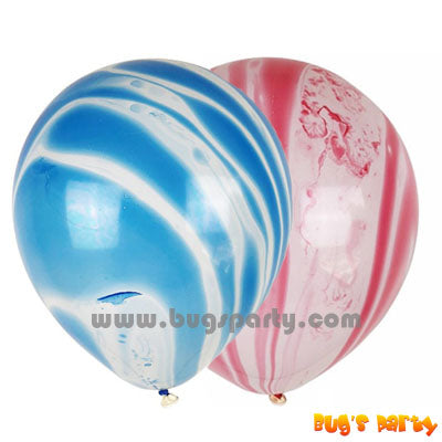 marble cloud prints helium balloons