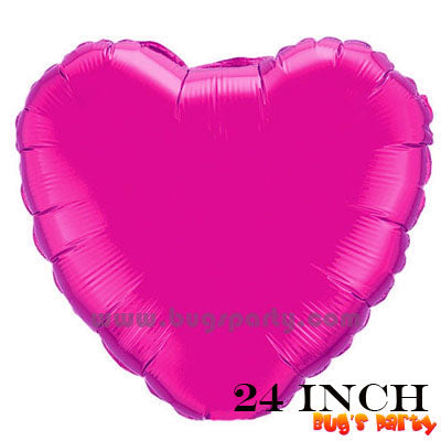 Hot Pink heart shaped balloon 24 inches