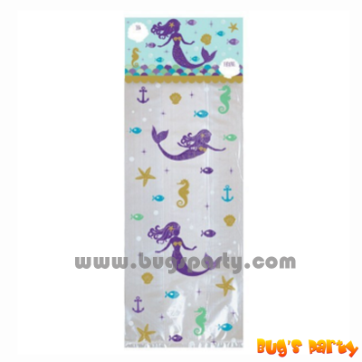 little mermaid theme party cello bags