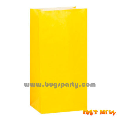 Yellow Sunshine color Paper Bags