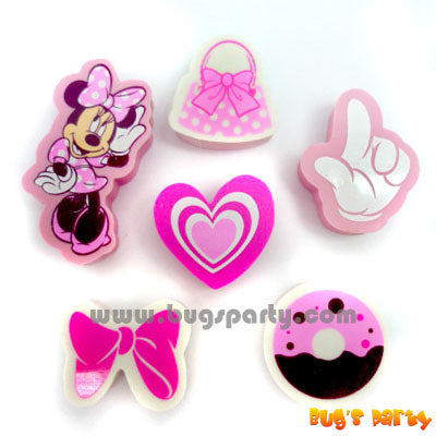 Minnie Shaped Erasers