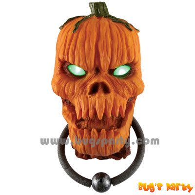 Halloween prop scary pumpkin door knocker