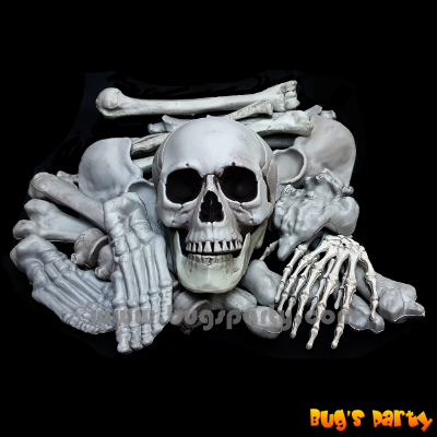 Halloween props bag of bones