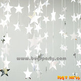 silver color stars string decoration
