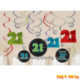 21st Birthday Swirls Deco