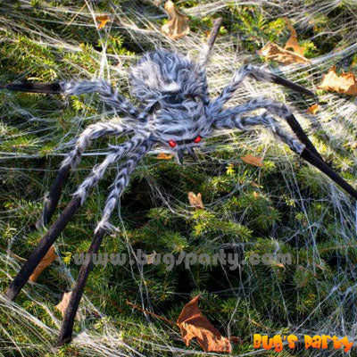20 inches fake grey fuzzy spider
