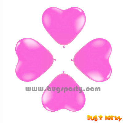 Balloon 6in Heart Pink