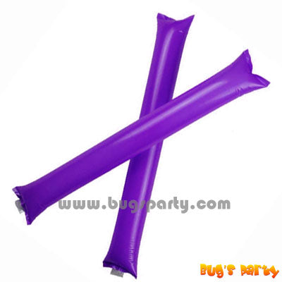 Purple Color Inflatable Rally, cheering pong bong Sticks