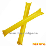 Yellow Color Inflatable Rally, cheering pong bong Sticks