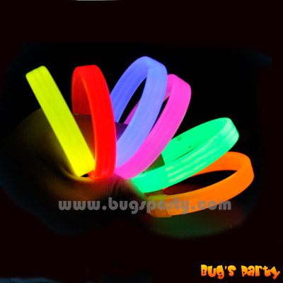 Glow wristband in assorted colors