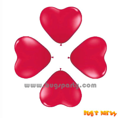 Balloon 6in Heart Red